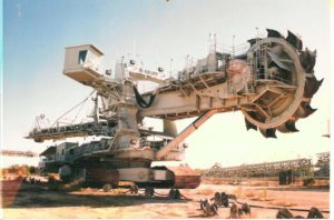 Reclaimer at a Coal Mine